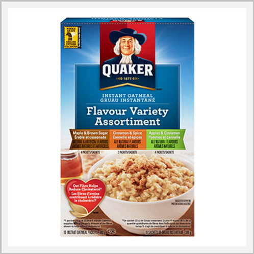Quaker Instant Oatmeal Variety Flavors (8/280 g)