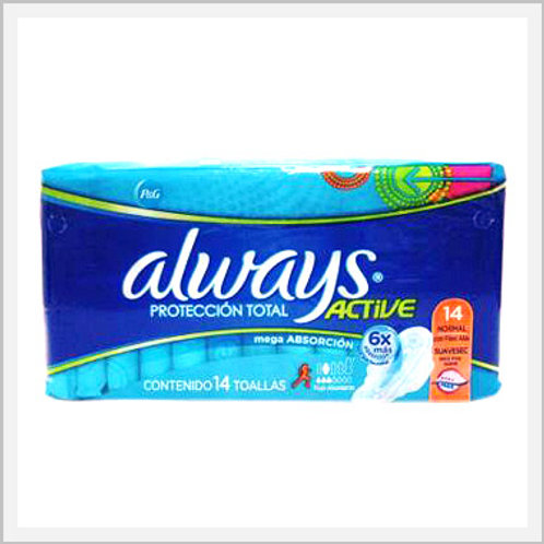 Always Active Sanitary Napkins With Wings Super