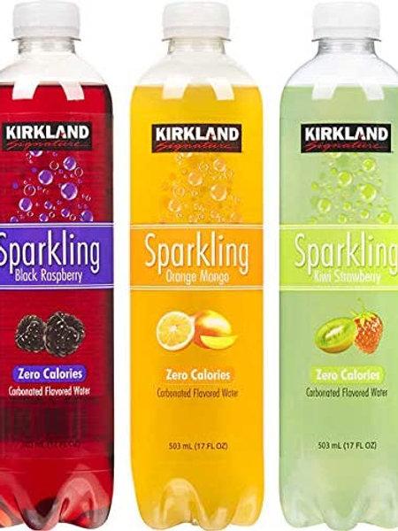 Kirkland Sparkling Carbonated Assorted Flavor Water (24/503 ml)