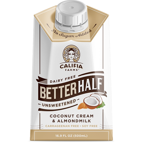 Better Half Coconut Cream & Almondmilk Unsweetened  (500 ml)
