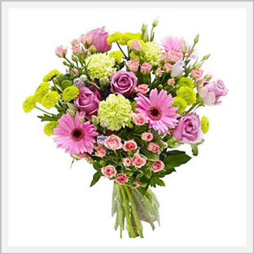 Seasonal Bouquet Of Flowers Without Vase