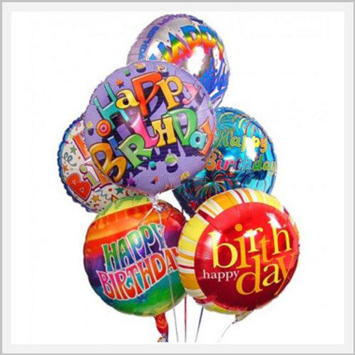 Happy Birthday Aluminium Balloon (1 count)