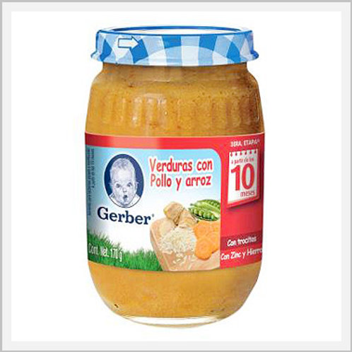 Gerber Baby Vegetable With Chicken And Rice Jar