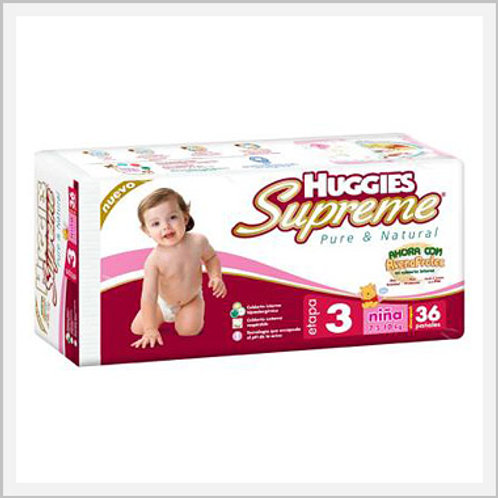 Huggies Supreme Diapers Stage 3 Girls (36 count)