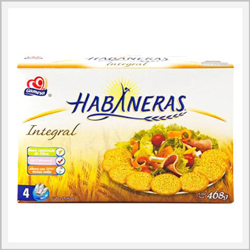 Habaneras Bran Whole Wheat Crackers 4 Pack (468 g)