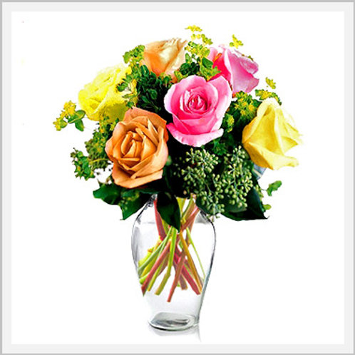Half Dozen Assorted Color Roses