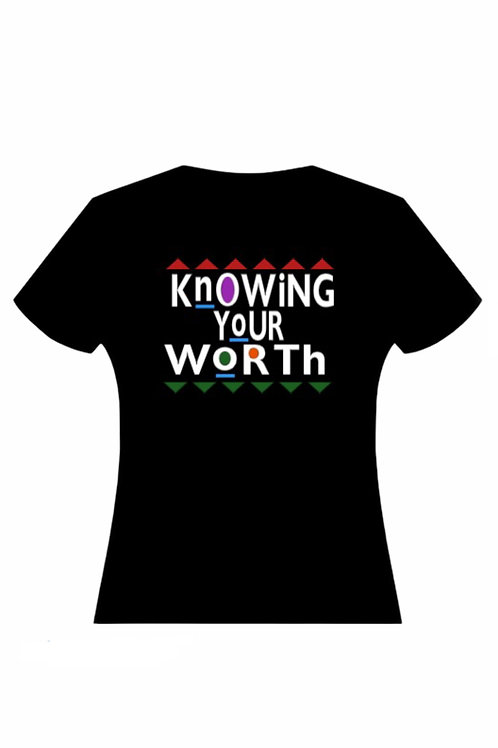 Knowing Your Worth T-Shirt (Black)