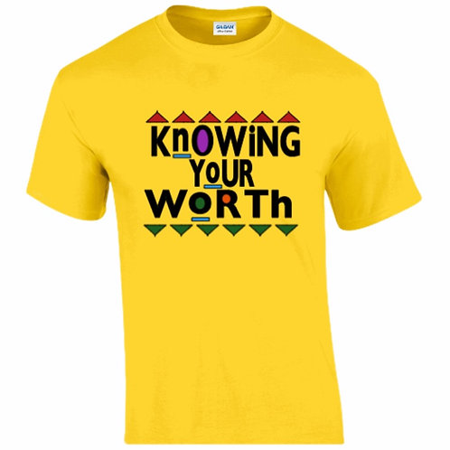 Knowing Your Worth T-Shirt (Yellow)