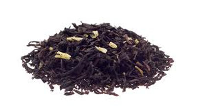black tea w/ coconut shreds