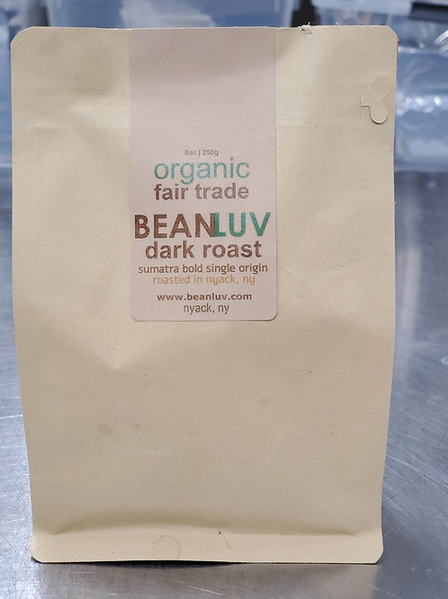 Organic Nicaraguan Dark Roast (WHOLE BEANS) 8oz
