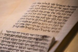 Torah scroll in Jerusalem. June 30, 2015. (Photo by Micah Bond/Flash90)