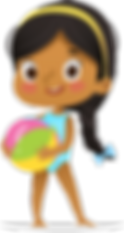 Brown girl with beach ball.png