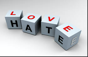 Allowing love to entertain hatred