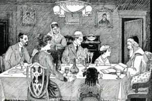 Seder Scene from Chalap's Haggadah (Image: Wikimedia Commons)