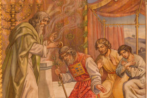 Moses blessing Aaron, the High Priest