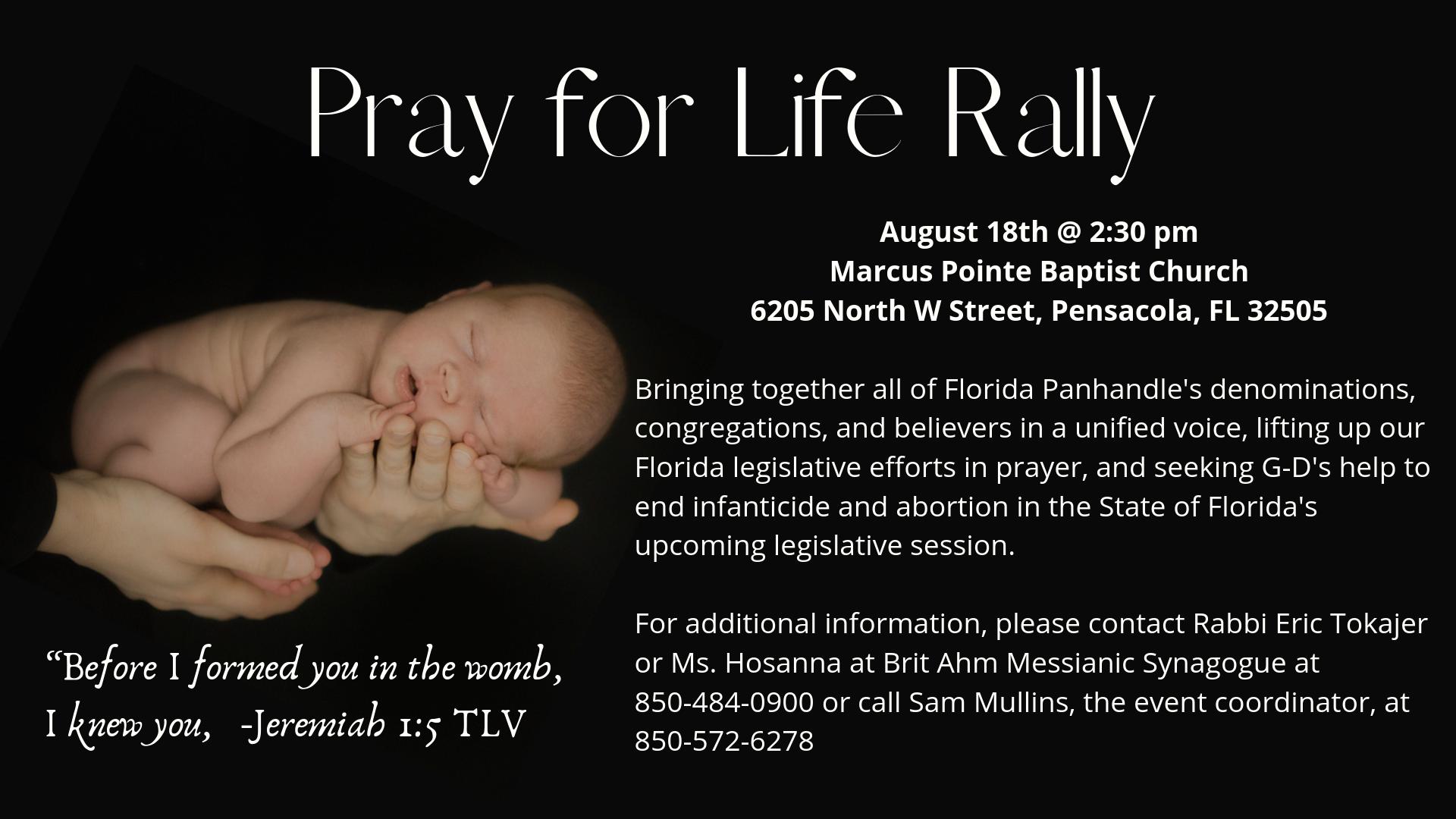 Pray for Life Rally
