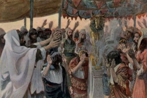 The Golden Calf, watercolor ca. 1896-1902 by James Tissot (Image: Wikimedia Commons)