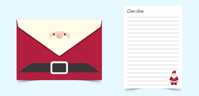 20 new printable letter from santa envelope pictures complete her babyness writes to santa herbabyness com spiritdancerdesigns Image collections