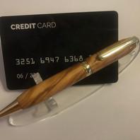 Creditcardpen olijf