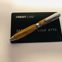 Creditcardpen Zebrano