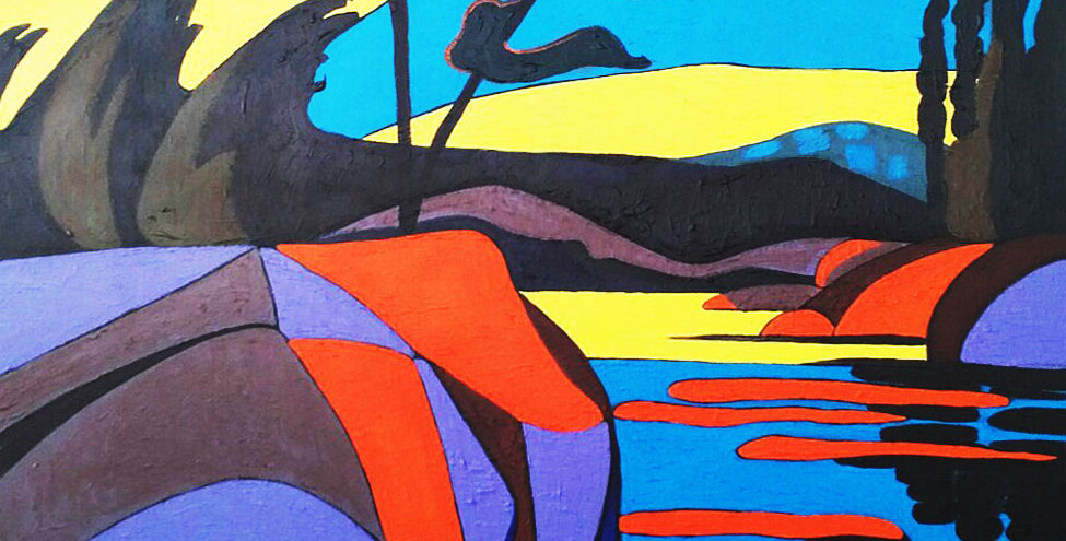 """Early Evening 36"""" x 48"""""""