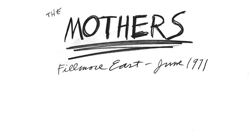 The Mothers ‎– Fillmore East - June 1971