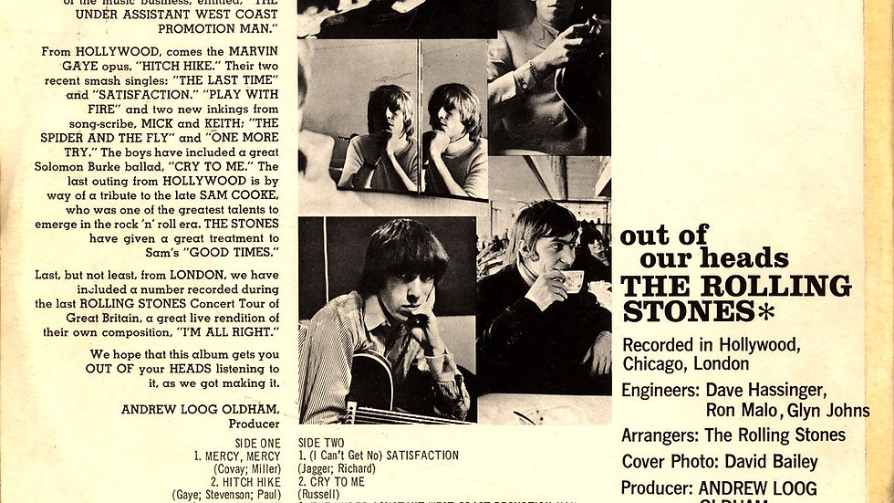 The Rolling Stones - Out of our heads - Collection Jacques Leblanc