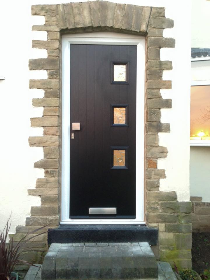 Black Composite Door Installed in Wakefield