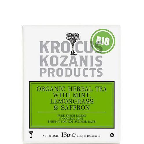 Organic Herbal Tea with Mint, Lemongrass & Greek Saffron 18gr