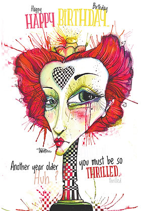 Queen of Hearts- Birthday card- Paper print