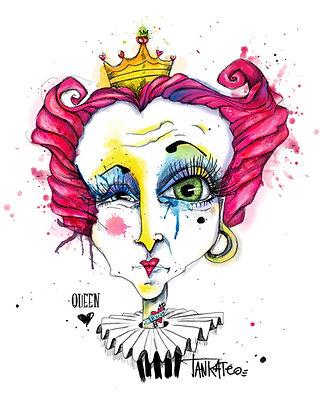 Queen of hearts 2017- Paper print