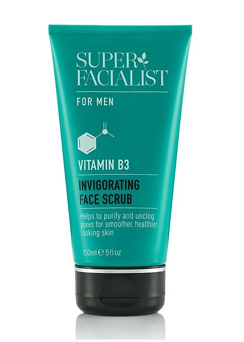 Superfacialist for Men Vitamin B3 Invigorating Face Scrub