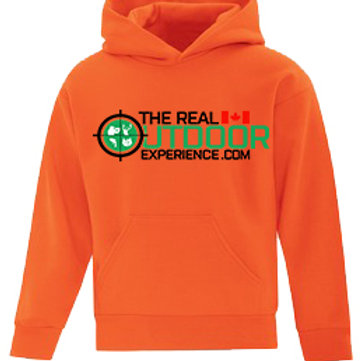 FLEECE HOODED SWEATSHIRT.