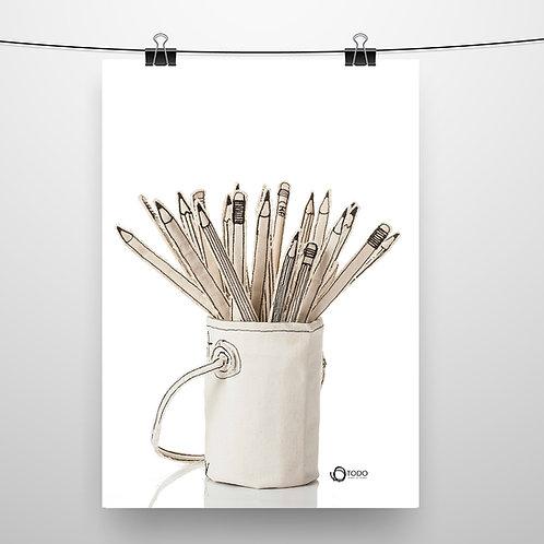 פוסטר מקורי - עפרונות בפחית