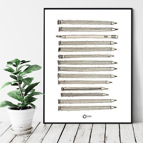 פוסטר מקורי- עפרונות בשורה