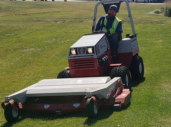 Commercial property lawn care