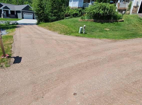 Gravel Driveway Reshaping