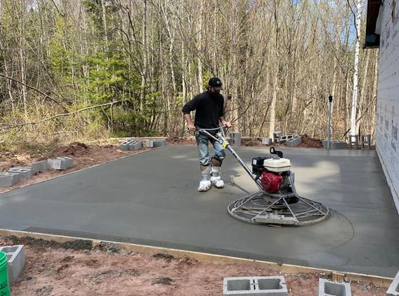 Concrete founation install