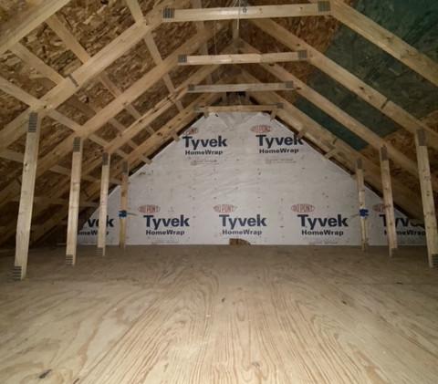 Garage attic space