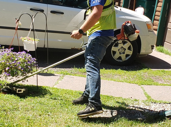 Trimming and weed whacking