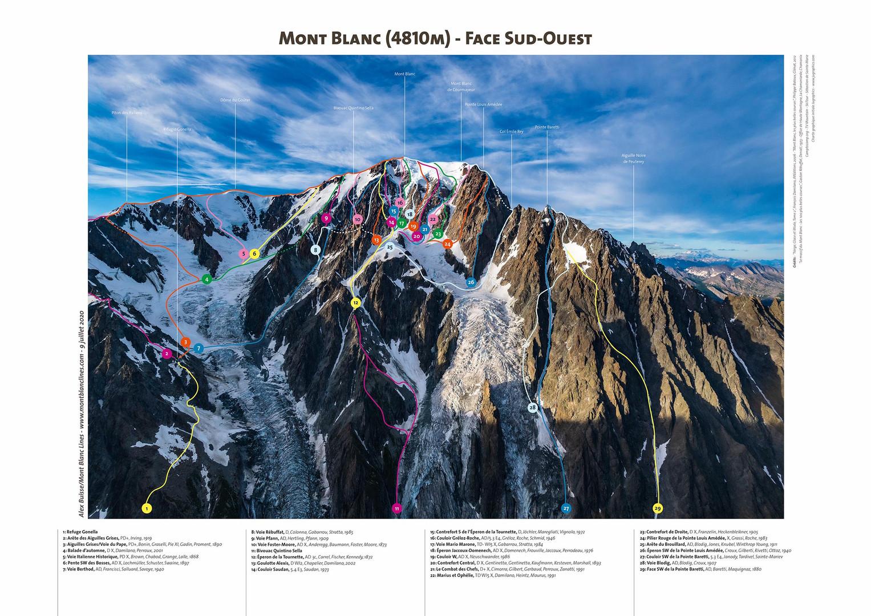 Mont Blanc - Face Sud-Ouest