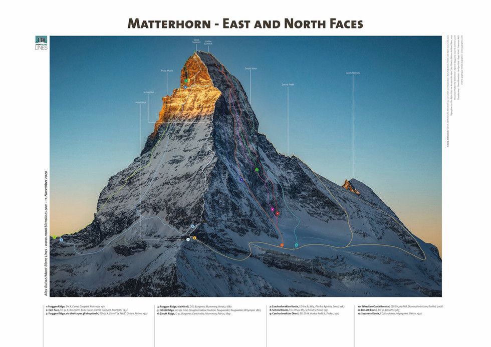 Matterhorn - East and North Faces