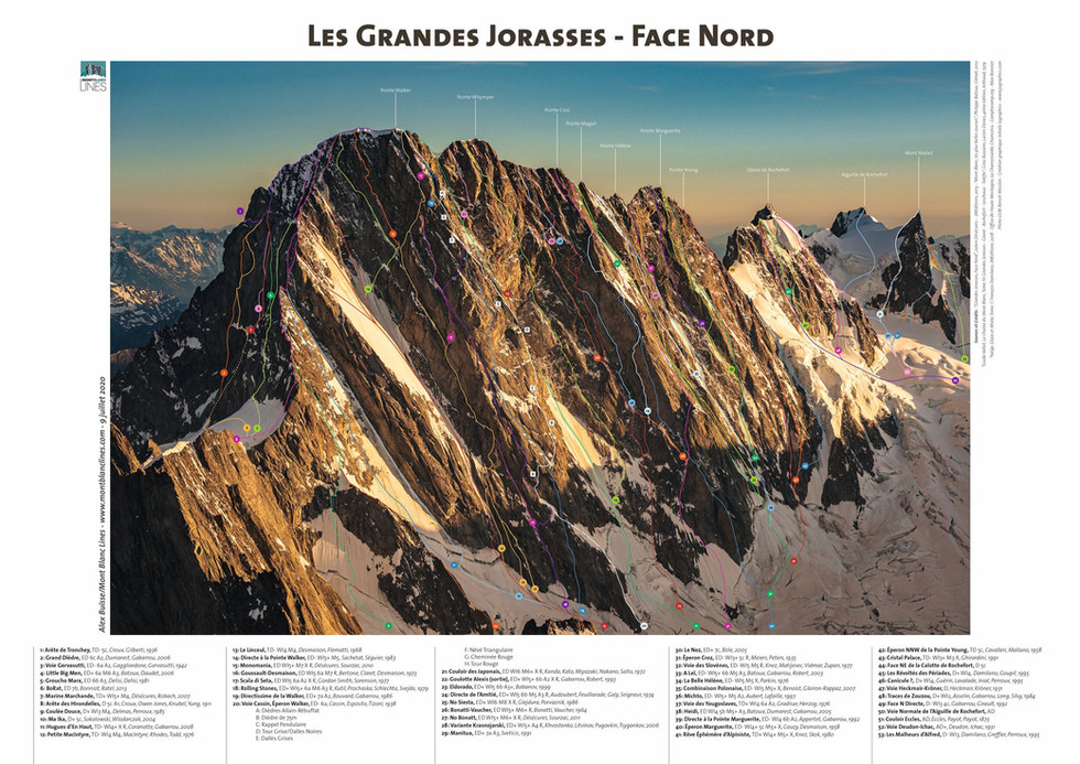 Les Grandes Jorasses - Face Nord