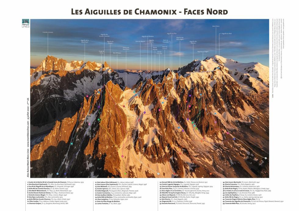 Les Aiguilles de Chamonix - Faces Nord