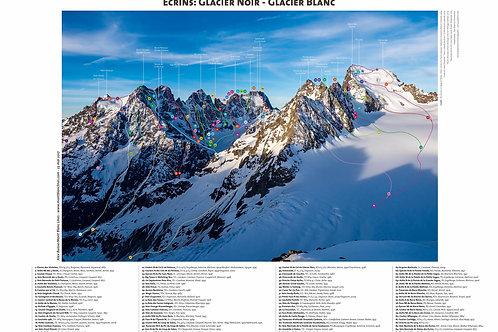 Écrins : Glacier Noir - Glacier Blanc (poster)