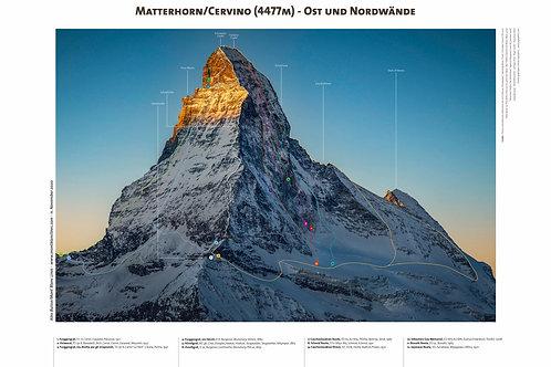 Matterhorn/Cervino - Ost und Nordwände