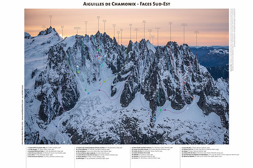 Aiguilles de Chamonix - Faces Sud-Est (hiver)