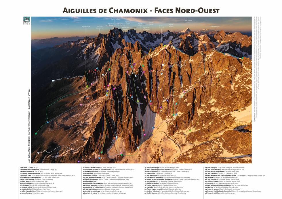 Aiguilles de Chamonix - Faces Nord-Ouest