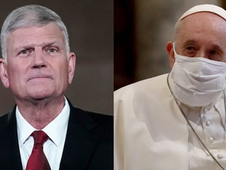 Franklin Graham Loses It After Pope Francis Backs Same-Sex Civil Unions Because Then Jesus Died 'For