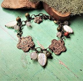 Bronze Boho Gemstone Charm Bracelet.jpg